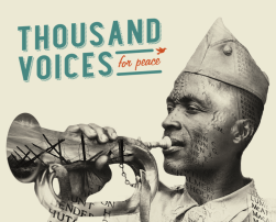 Medewerking aan het internationaal vredesstatement Thousand voices for peace