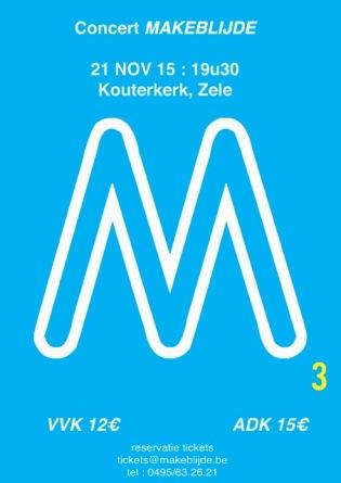 3de editie van M-concert - Dubbelconcert met Jong en Dameskoor Makeblijde
